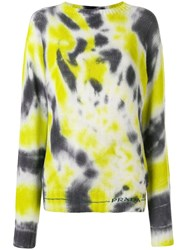 Prada Tie Dye Knitted Sweater Black