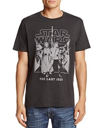 Junk Food Last Jedi Crewneck Short Sleeve Tee Black