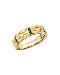 Bloomingdale's Men's Black Diamond Ring In Satin Finish 14K Yellow Gold 0.20 Ct. T.W. 100 Exclusive Black Gold