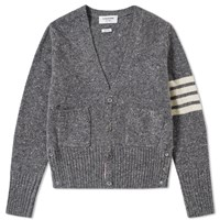 Thom Browne Classic Donegal Cardigan Grey