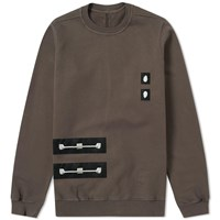 Rick Owens Drkshdw 4 Patch Crew Sweat Brown