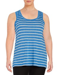 Marc New York Striped Tank Top Blue