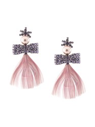 Mignonne Gavigan Lux Peacock Feather Earrings 60
