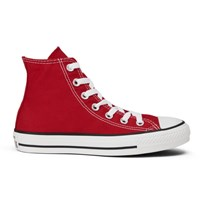 Converse Unisex Chuck Taylor All Star Canvas Hi Top Trainers Red