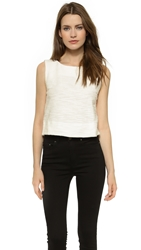 L'agence Sleeveless Crop Top White