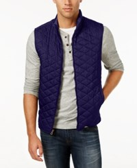 Weatherproof Vintage Men's Big And Tall Quilted Vest Navy