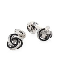 Saks Fifth Avenue Collection Textured Knot Cufflinks Black