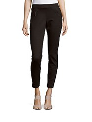 Matty M Ankle Length Slim Fit Pants Black