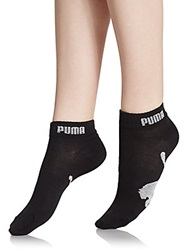 Puma Quarter Crew Cotton Blend Socks 6 Pack Black Grey