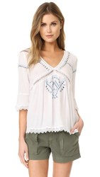 Ella Moss Broderie Anglaise Blouse White
