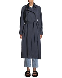 Elizabeth And James Dakotah Double Breasted Drapey Trench Coat Gray
