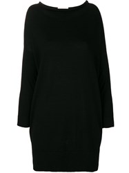 Snobby Sheep Long Knitted Top Black