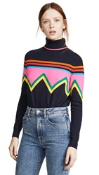 Chinti And Parker Ski Slope Sweater Navy Multi