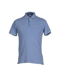 Sun 68 Topwear Polo Shirts Men Pastel Blue