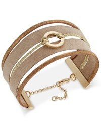 Inc International Concepts Gold Tone Faux Suede Bracelet Only At Macy's