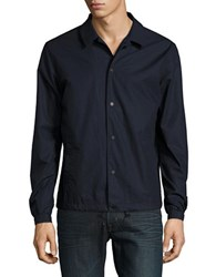 Selected Solid Cotton Jacket Dark Sapphire