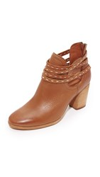 Frye Naomi Pickstitch Booties Whiskey