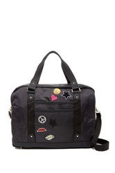 Madden Girl Nylon Patch Weekend Bag Black