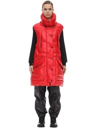 Moncler Myra Tech Nylon Lacque Vest Red