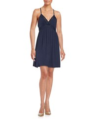 Splendid Racerback Sleep Dress Navy Iris