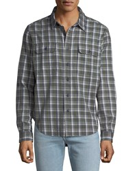 Ugg Anders Classic Fit Plaid Flannel Shirt Green