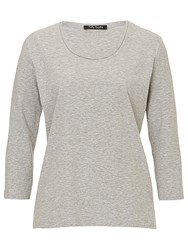 Betty Barclay Three Quarter Length Sleeve Top Light Grey Melange