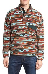 Patagonia Men's 'Synchilla Snap T' Fleece Pullover Delta Cinder Red