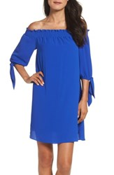 Vince Camuto Women's Stretch Crepe Shift Dress Opulent Cobalt