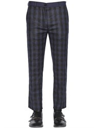 Christian Pellizzari 18Cm Checked Stretch Wool Blend Pants