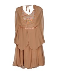 Magazzini Del Sale Short Dresses Brown