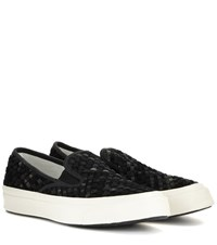 Converse Deck Star 67 Suede Slip On Sneakers Black