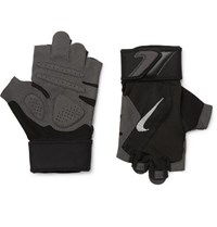 Nike Microsuede Mesh And Jersey Training Gloves Black