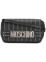 Moschino Studded Crossbody Bag Black
