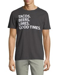 Chaser Tacos Beer Lime Graphic Tee Black
