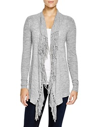 Rebecca Taylor Checker Pointelle Cardigan Grey
