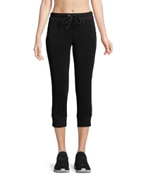 Marc New York Cropped Terry Jogger Pants Black