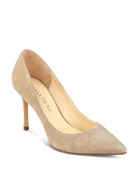 Ivanka Trump Una Suede Pointed Toe High Heel Pumps Dark Natural