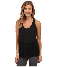 Zobha Daniela Layer Tank Top Black Women's Workout
