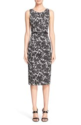 Women's Michael Kors 'August' Print Cotton Sateen Sheath Dress