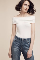 Anthropologie Brushed Off The Shoulder Tee White