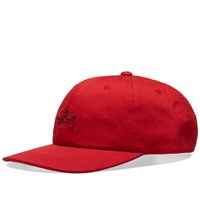 Stussy Ho18 Stock Low Pro Cap Red