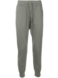 Attachment Drawstring Waist Track Pants Grey