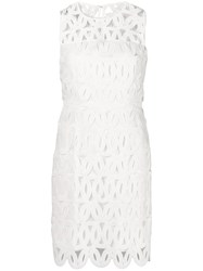 Milly Scalloped Lace Sienna Dress White