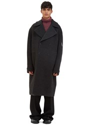 Yang Li Big Double Breasted Double Faced Coat Grey