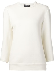 Derek Lam Balloon Sleeve Sweatshirt Nude And Neutrals