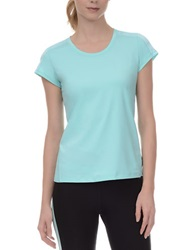 Danskin Essential Mesh And Jersey Tee Spiral Green