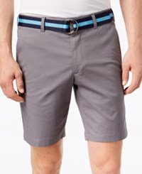 Club Room Men's Classic Fit Stretch Shorts Created For Macy's Shark