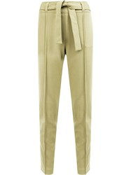 Maison Ullens Belted Jersey Trousers Green