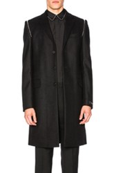 Givenchy Wool Cashmere Coat In Black