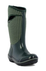 Bogs Women's Plimsoll Houndstooth Tall Waterproof Snow Boot Dark Green